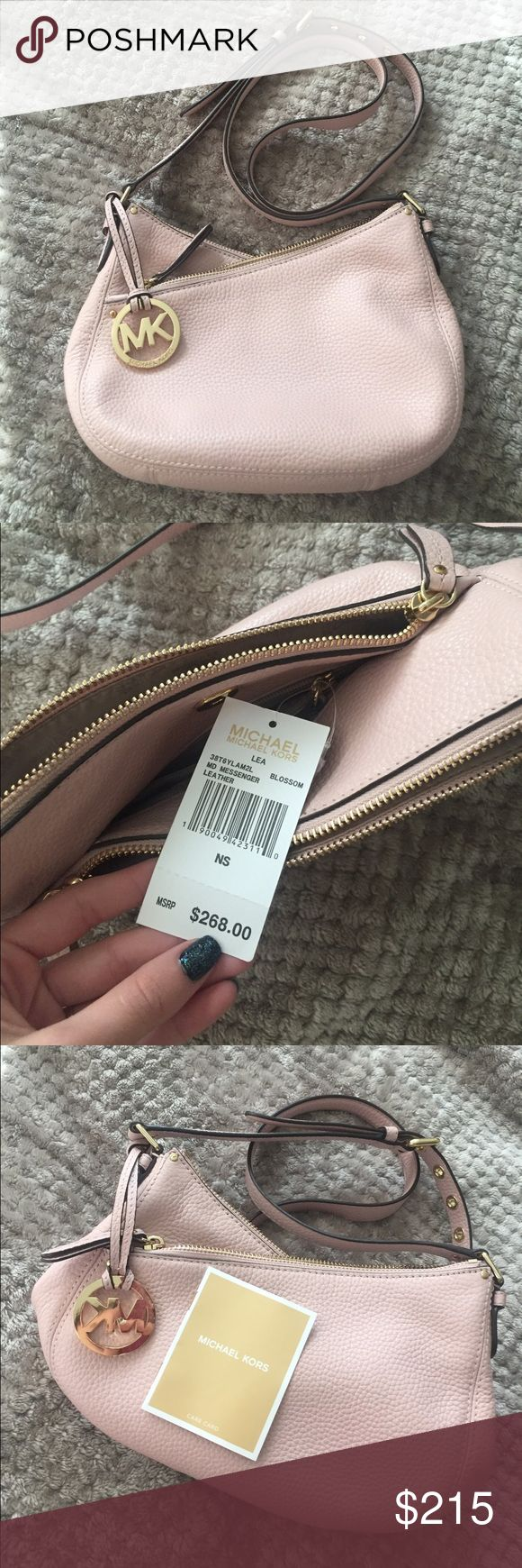 Michael Kors bag Obviously never used (NWT). Genuine leather and amazing condition. Didn't come with a dustbag, but willing to throw in one of my own. Color blossom. Much less on Ⓜ️er (and free ship) KORS Michael Kors Bags Crossbody Bags