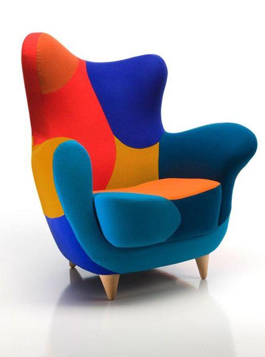 MOROSO fauteuil ALESSANDRA LOS MUEBLES AMOROSOS (Couleurs vives version A - Divina 3 / Tonus) - MyAreaDesign.com