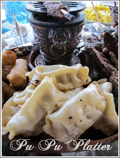 Pu Pu Platter with hibachi from Purple Chocolat