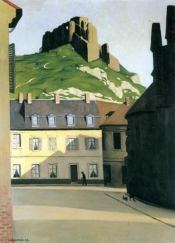 Felix Vallotton (1865-1925): Platz in Les Andelys. Reminds me of Eastern Canada