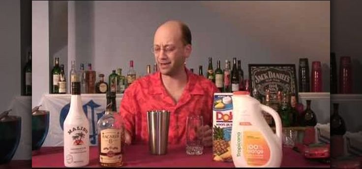 This recipe has Malibu coconut rum, dark rum, orange juice and pineapple juice with a wedge of pineapple to garnish. Yellow and seductive. If you're sick of basic cocktails, expand your knowledge. Watch this mixed drink recipe video to learn how to mix a pain killer cocktail. Mixing drinks is easy. By widening your breadth of bartending knowledge, you can throw some great parties or become a bartender yourself. Watch this recipe video to learn how to mix a pain killer cocktail.