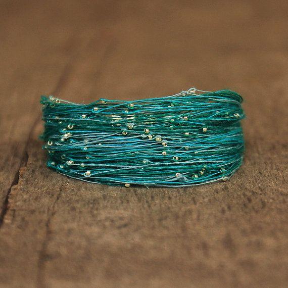 African Bracelet Green Bracelet Shiny Jewelry by Naryajewelry