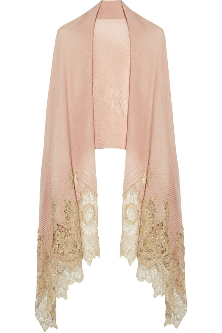 VALENTINO LACE TRIMMED SHAWL