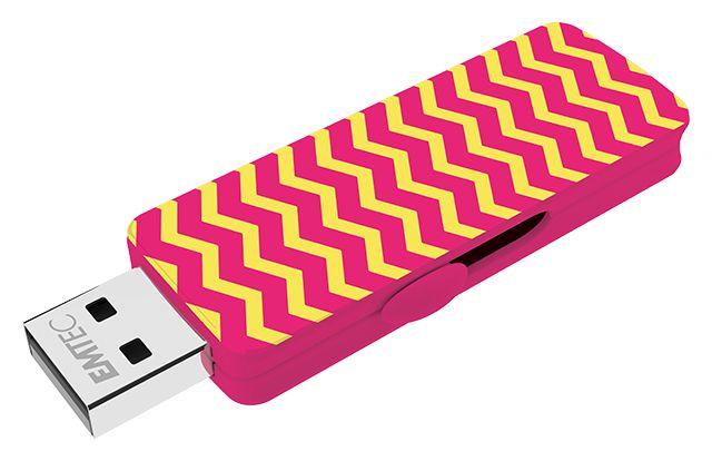 Wallpaper USB flash drive pink limonade 3/4 top open #WallPaper #FlashDrives #EMTEC
