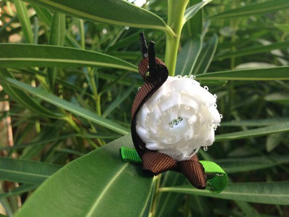 Snail Hair Clip by ArgenCrafts on Etsy