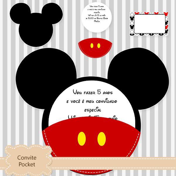 Convite Bolsinha do Mickey