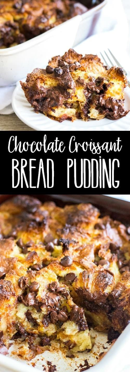 Mar 22, 2020 – Chocolate Croissant Bread Pudding is a rich and decadent dessert that everyone loves and it's so easy to …