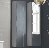 Full length bathroom mirrored cabinet from Utopia Bathrooms.