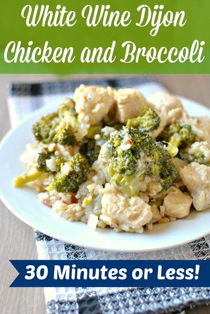 Check out White Wine Dijon Chicken and Broccoli. It's so ...