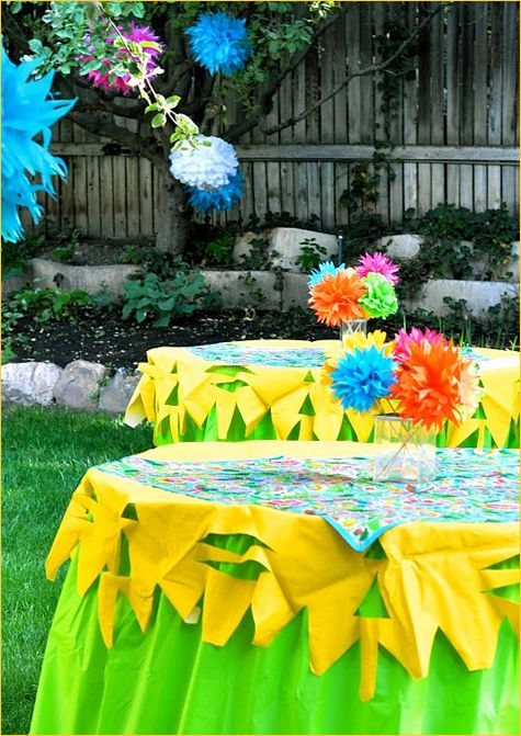 18 best Plastic Table Cloth Idea images on Pinterest Birthday