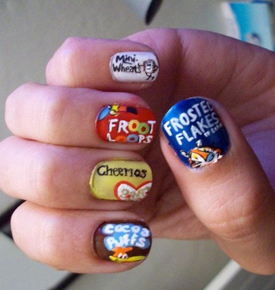 Cereal box nails