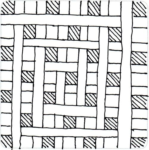 HOW TO: Zentangle Pattern Cubic Step by Step shown here: Cubic by Karl Stewart of Life ExpressedZentangle Pattern