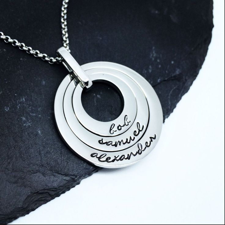 This is a luxurious solid stainless steel necklace, perfect for Mum on Mothers Day. It's smooth, shiny and has a nice weight to it. It comes with a chain and will be presented in a box. It comes in three gorgeous colours. These take slightly longer to make due to ordering the materials in. Please allow 3-4 weeks for turnaround. If you do need this sooner, please contact us to see if we can get the materials in any quicker. Made from stainless steel.