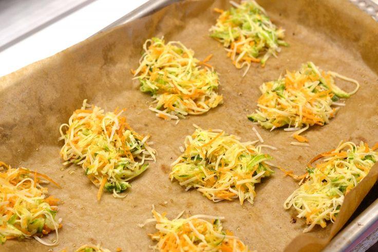 Cukkinis-répás parmezánchips recept