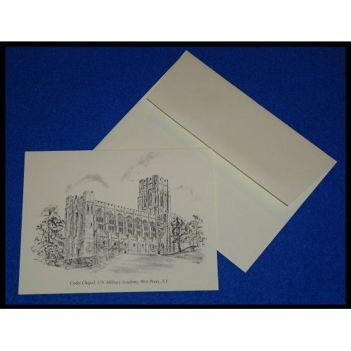 BRAND NEW WEST POINT CADET CHAPEL GREETING CARD UNITED STATES MILITARY ACADEMY - $1.99