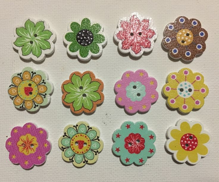 A personal favourite from my Etsy shop https://www.etsy.com/au/listing/525997121/flower-buttons-painted-wooden-flower