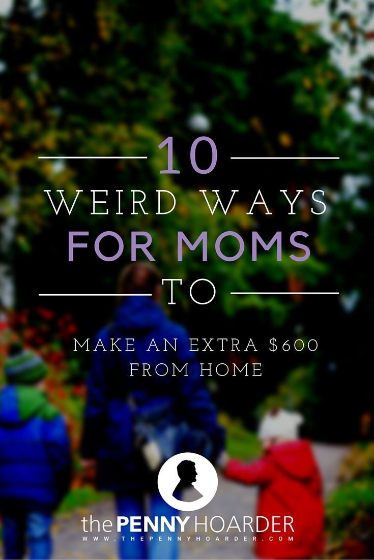 10 Weird Ways For Moms To Make An Extra $600 From Home - The Penny Hoarder - Just take 2 hours and complete everything on this list and you'll be $640 richer. Pretty cool, right?  http://www.thepennyhoarder.com/10-weird-ways-moms-earn-extra-600-home/ make money for christmas #christmas