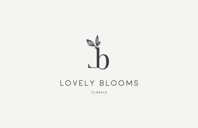 Lovely Blooms Florals- Florist Logo, floral logo, modern