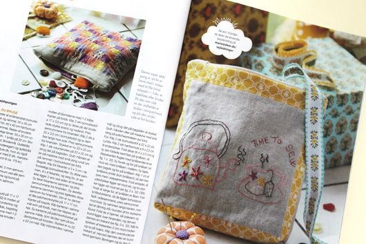 Garn-iture embroidery & patchwork design. Pattern included in the magazine Maries Ideer april 2014. www.garn-iture.dk