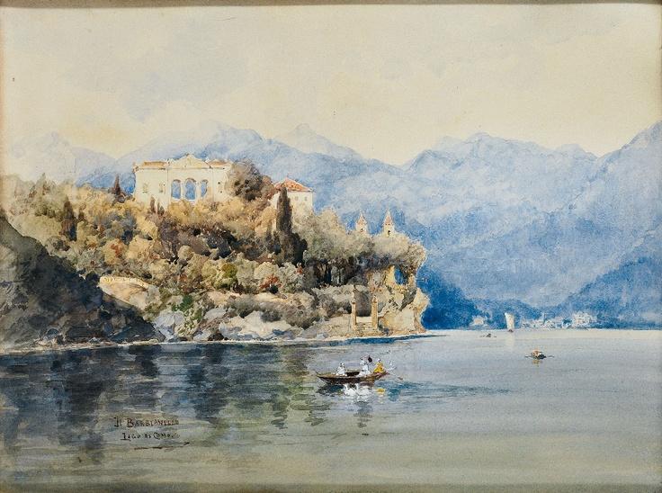 """Johann Gottfried Steffan (1815–1905): """"Il Balbianello Lago di Como"""""""
