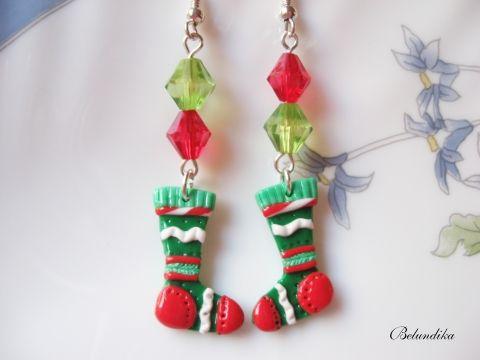Karácsonyi zoknik-fülbevaló.
