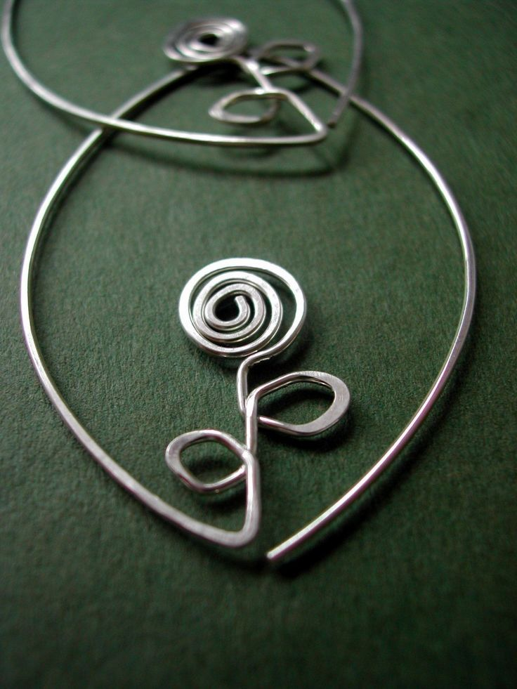 Sterling Leafy Hoops - FLOWER, silver oval earrings, modern jewelry,  gift under 50, gift for women, maryandjane. $28.00, via Etsy.