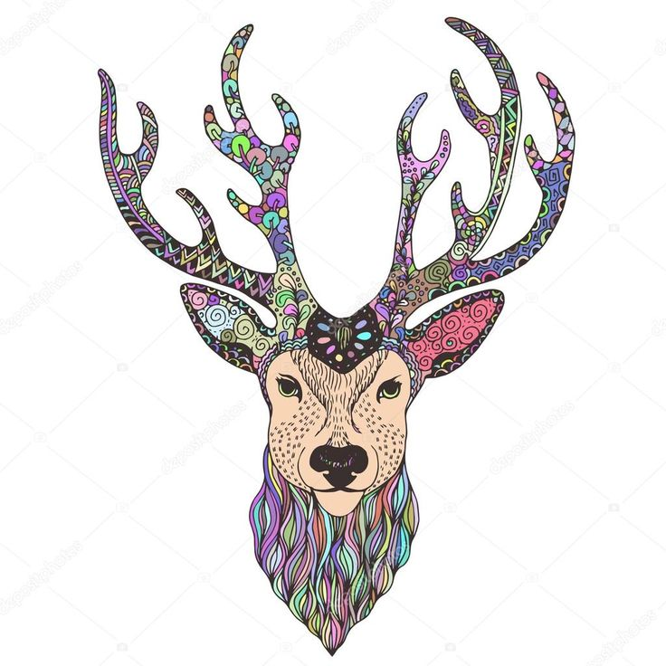 Best 25+ Deer Head Tattoo Ideas On Pinterest