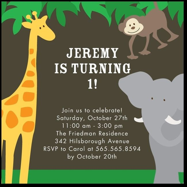 22 best wcw 2nd birthday jungle theme images on pinterest jungle little safari birthday party invitations simplyput by ashley woodman hunter green green front stopboris Gallery
