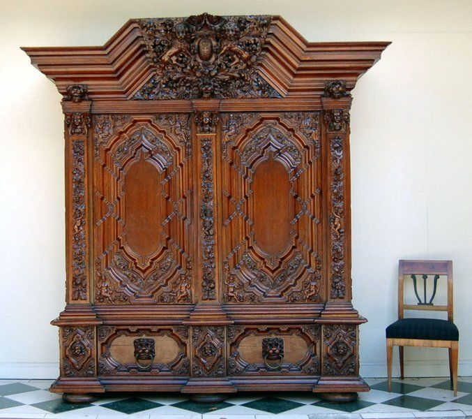 Aktenschrank antik  120 best DANZIGER Barock images on Pinterest | Antique furniture ...