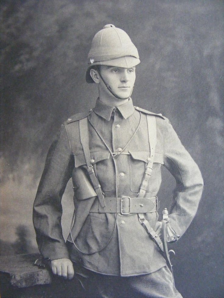 Boer War Original Photo of Handsome Young Soldier or Officer c.1899.