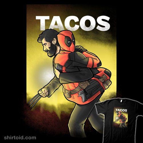 Tacos | Shirtoid #comic #comics #deadpool #film #logan #marvelcomics #movie #trheewood #wolverine