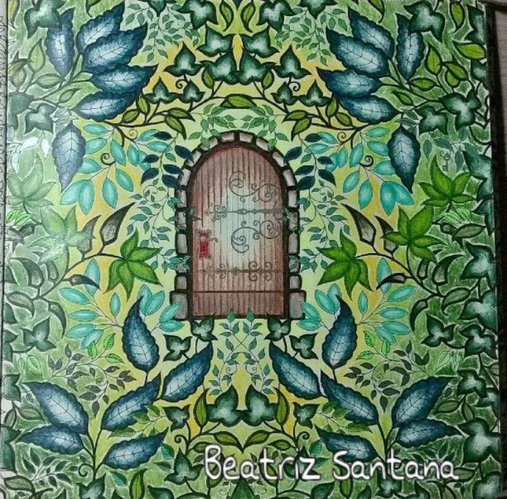 Pen And Watercolor Garden Doors Johanna Basford Secret Art Therapy Santana Coloring Books Adult Pictures Gel Pens