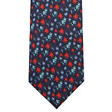 Buy Jaeger Silk Floral Print Tie, Navy Online at johnlewis.com
