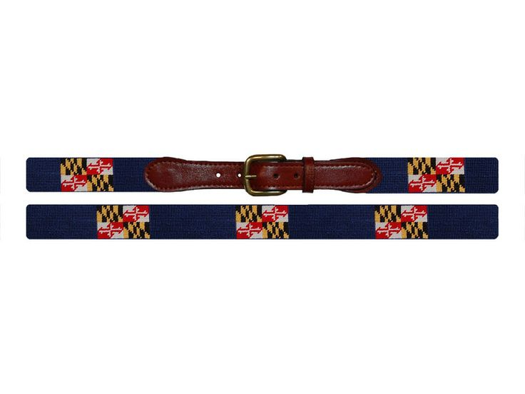 Maryland Flag Needlepoint Belt Smathers Branson Needlepoint Belts Needlepoint Maryland Flag