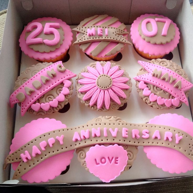 Anniversary cup cake