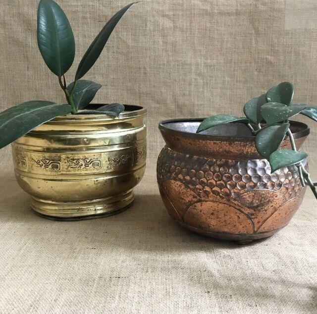 Vintage Planter Pots Brass Copper Pots Garden Beds Gumtree Australia Moreland Area Coburg 1216000870 Vintage Planters Planter Pots Planters