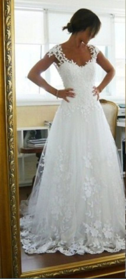 New Prom Gowns, Traditional Pretty Wedding Dresses,Tulle Wedding