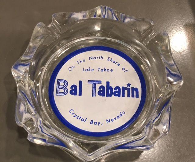 Vintage Bal Tabarin casino ashtray 1950s/1960s Crystal Bay Nevada on the North Shore of Lake Tahoe Souvenir