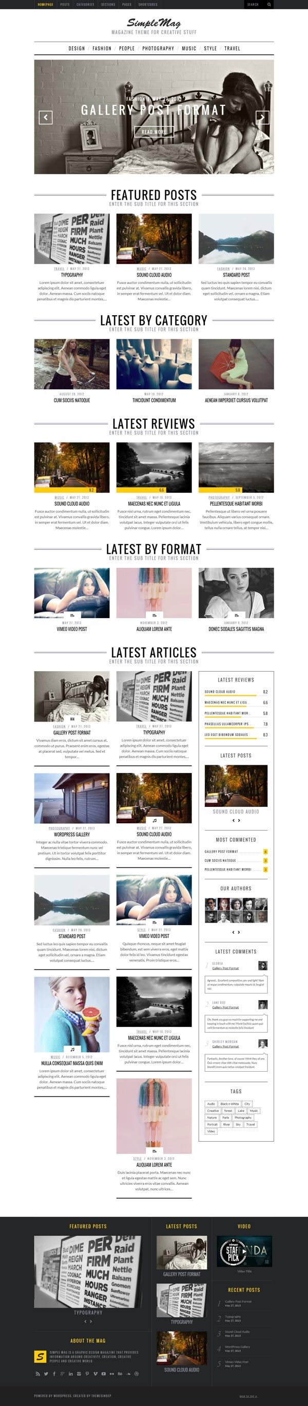 Simple Mag - Blog Wordpress Theme for Online Magazines