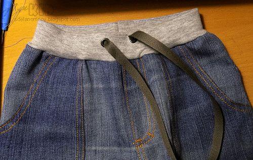 Сегодня покажу, как я делаю трикотажный пост на детских джинсах, когда ткань достаточно плотная, непластичная. Обычно в таком случае толщи...