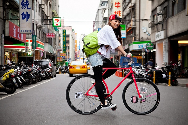 Fixie Lady (fixed gear girl) and Bicycles Love Girls. http://bicycleslovegirls.tumblr.com/