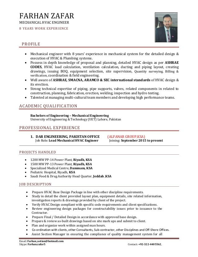 Hvac Engineer Resume In 2020 Hvac Design Hvac Engineer Hvac