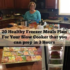 W30! 20 Healthy Freezer Meals For Your Slow Cooker in 3 Hours