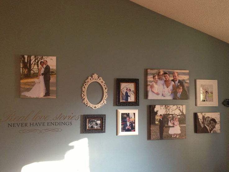 Wedding picture wall