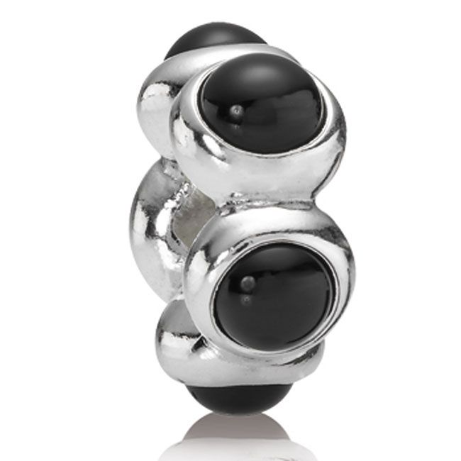 Pandora Goodnight Kiss With Black Onyx Cabochon Charm