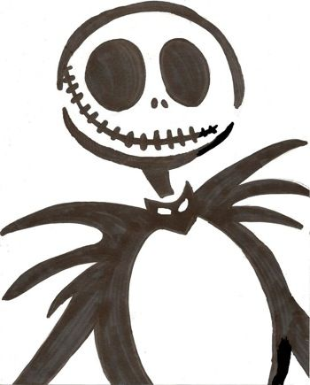 nightmare before christmas stencil - Google Search putting it on my pumpkin this year