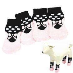 #Banggood Собака симпатичная розовая бабочка шаблон резиновой прокладки хлопковые носки (917484) #SuperDeals