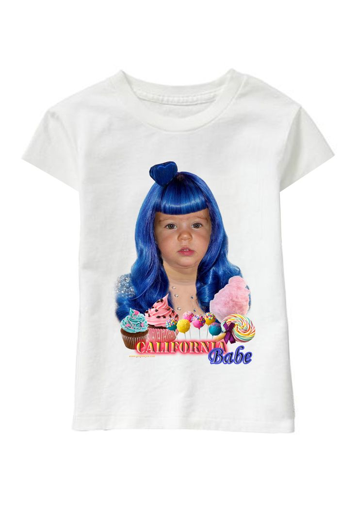 Blue Babe personalized T-shirt www.ghigostyle.com