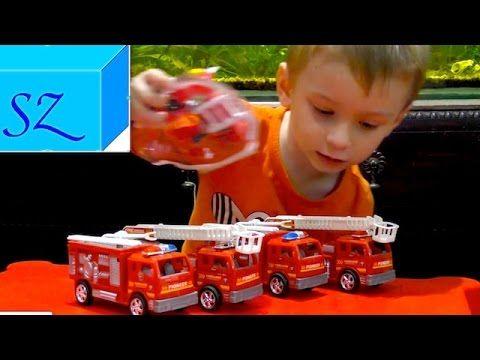 Пожарные машины и  робот - дровосек