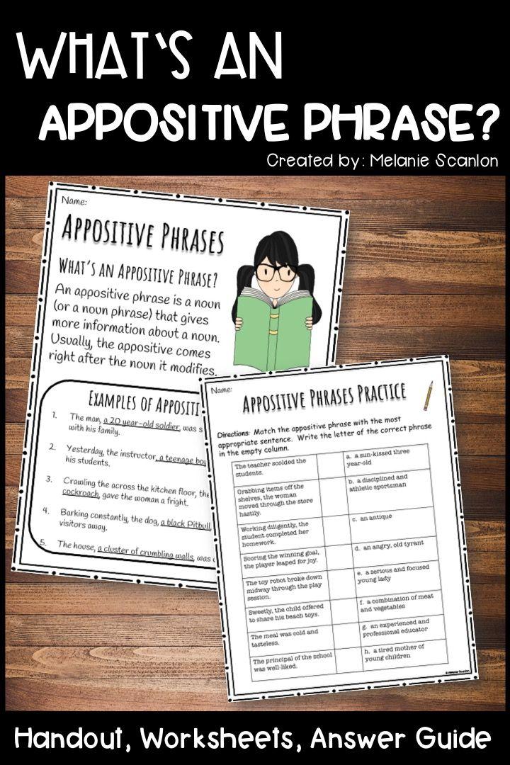 Appositive Phrases Teaching, Writing, Teaching grammar